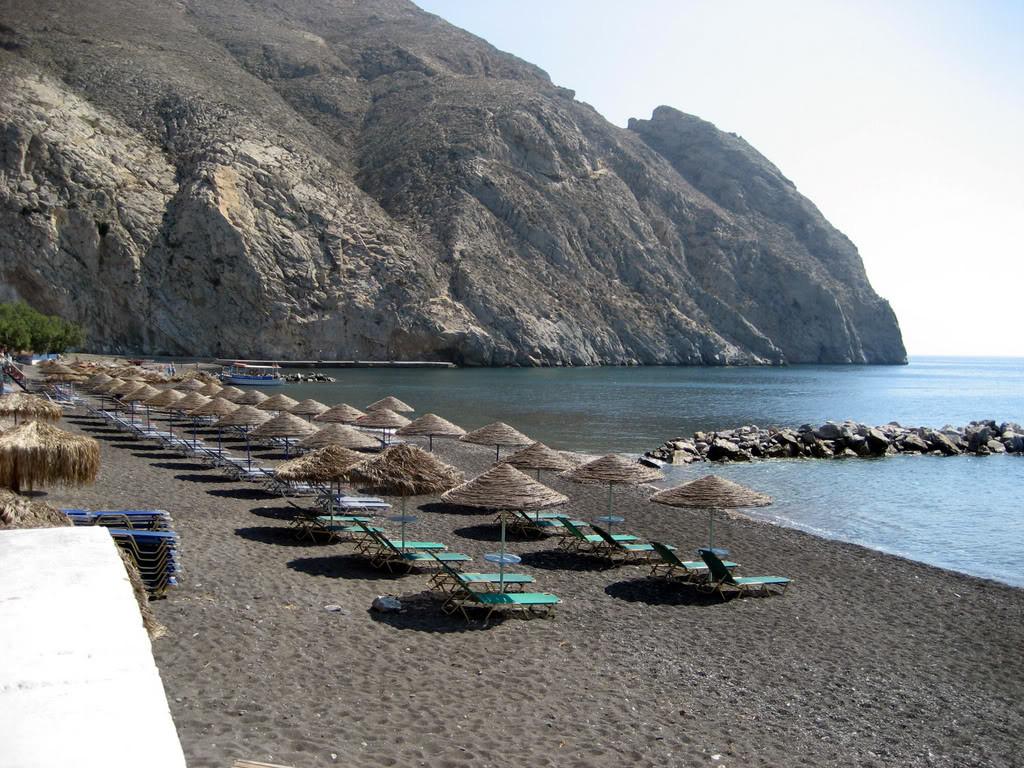 Santorini plaža Perissa
